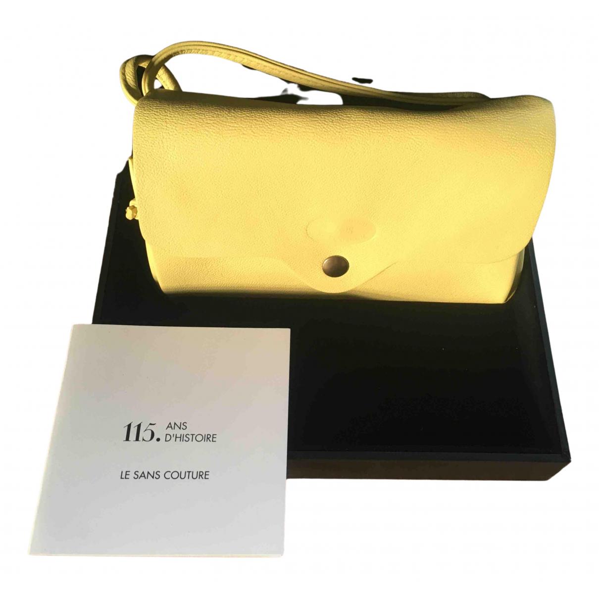 Le Tanneur - Pochette   pour femme en cuir - jaune