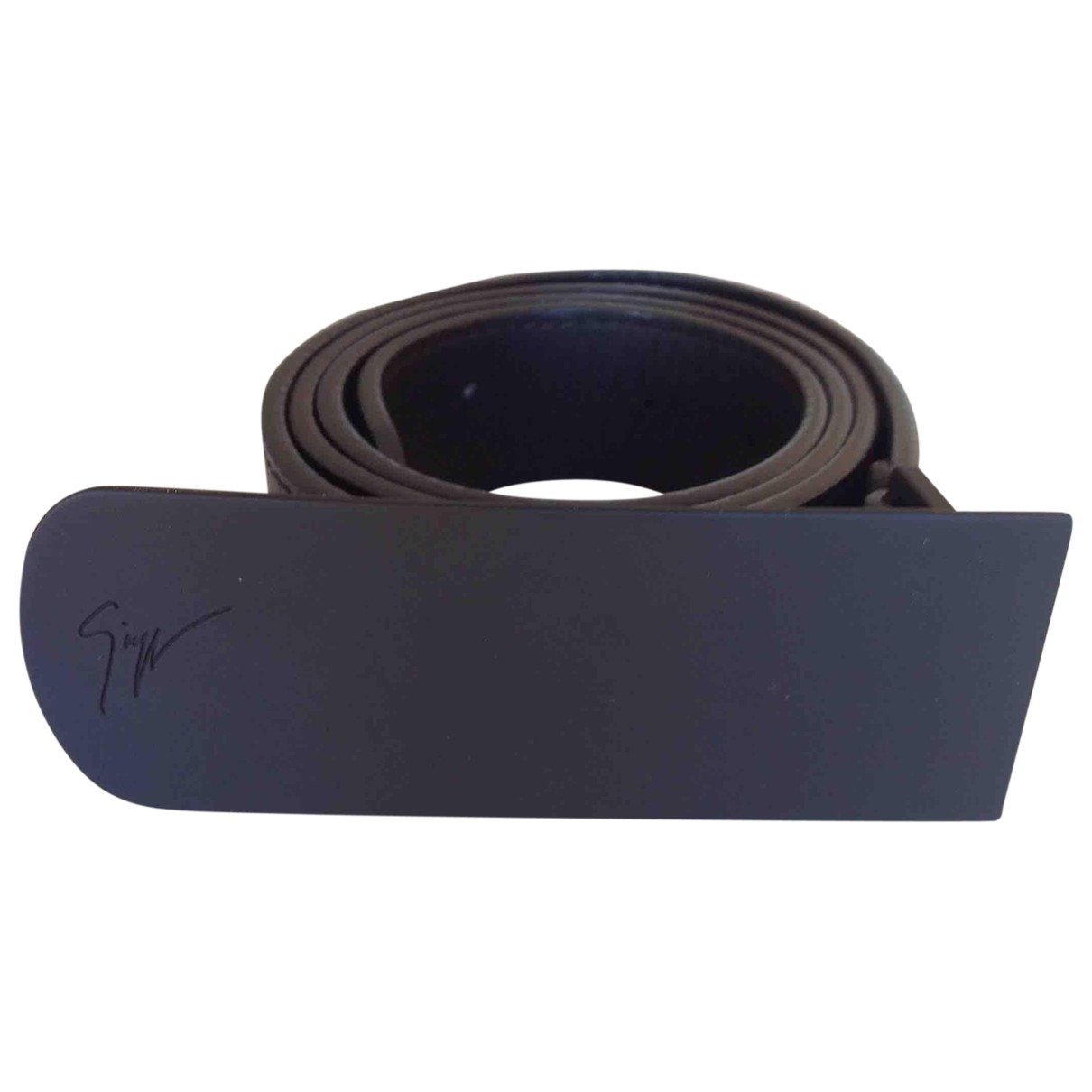 Giuseppe Zanotti \N Black Leather belt for Men 90 cm