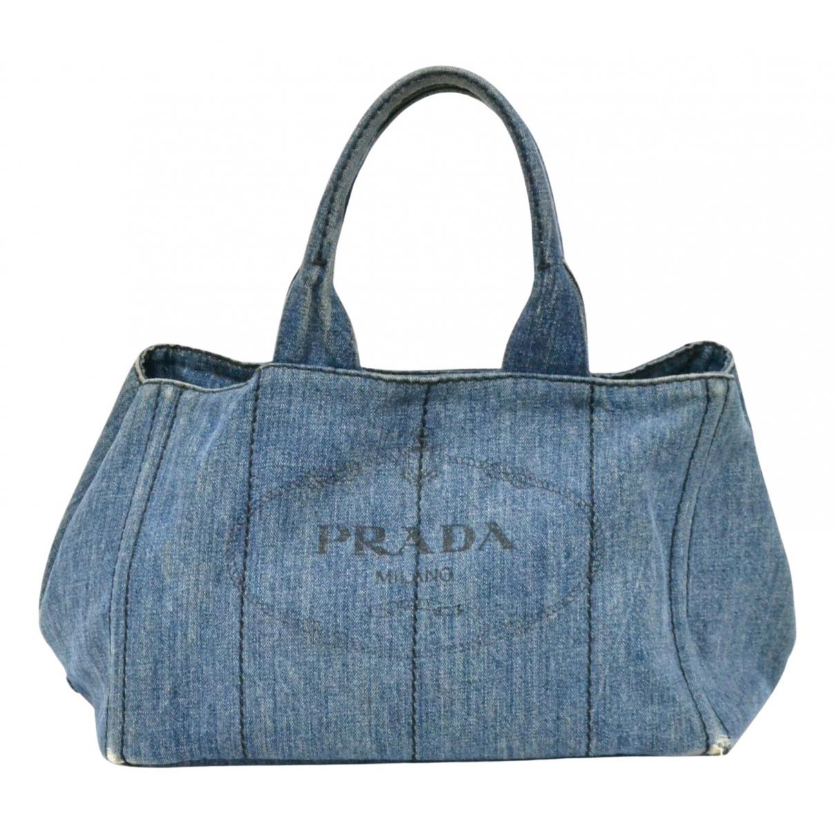 Prada \N Handtasche in  Blau Denim - Jeans