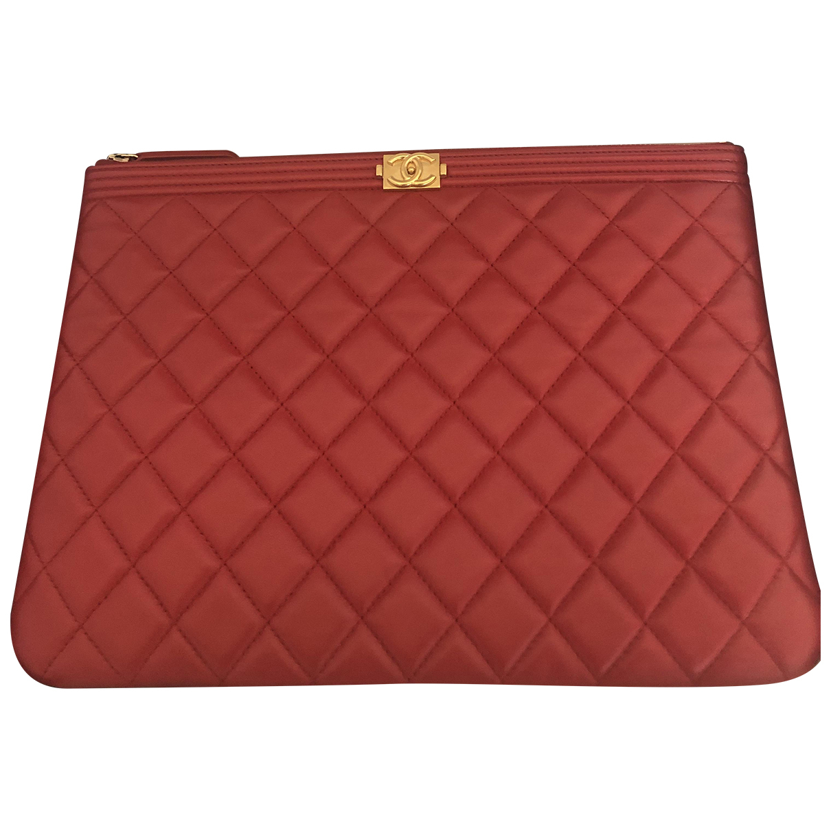 Chanel Boy Red Leather Clutch bag for Women N