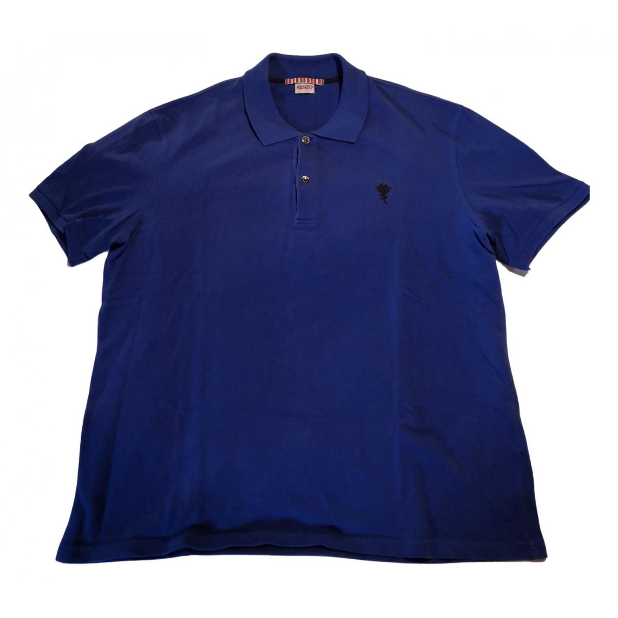 Polo en Algodon Azul Kenzo