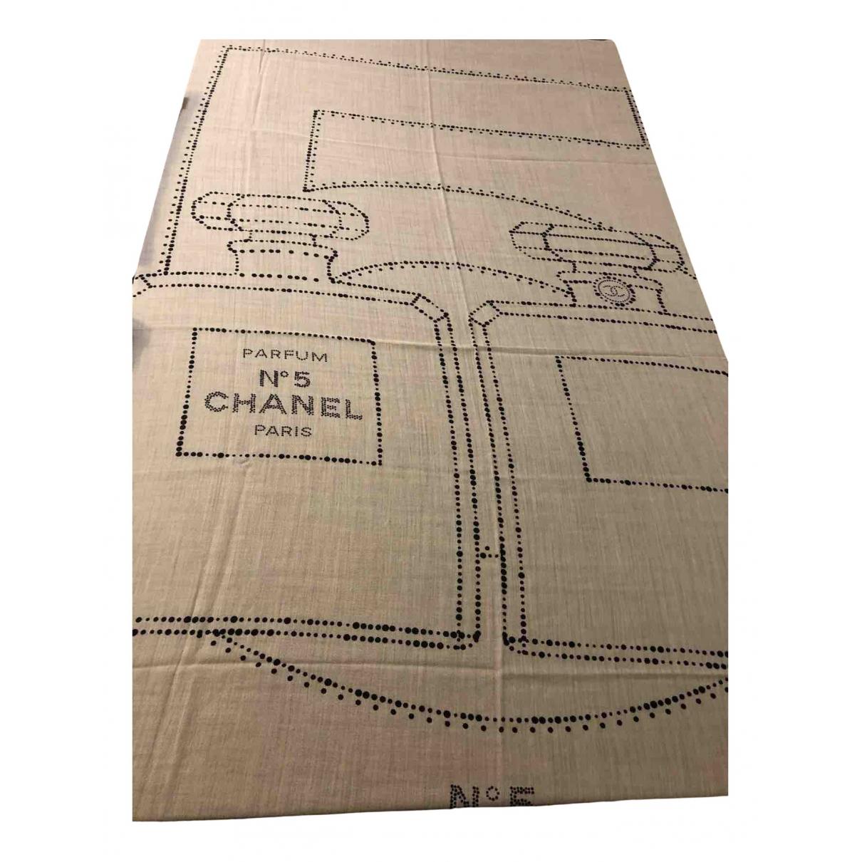 Chanel - Foulard   pour femme en cachemire - beige