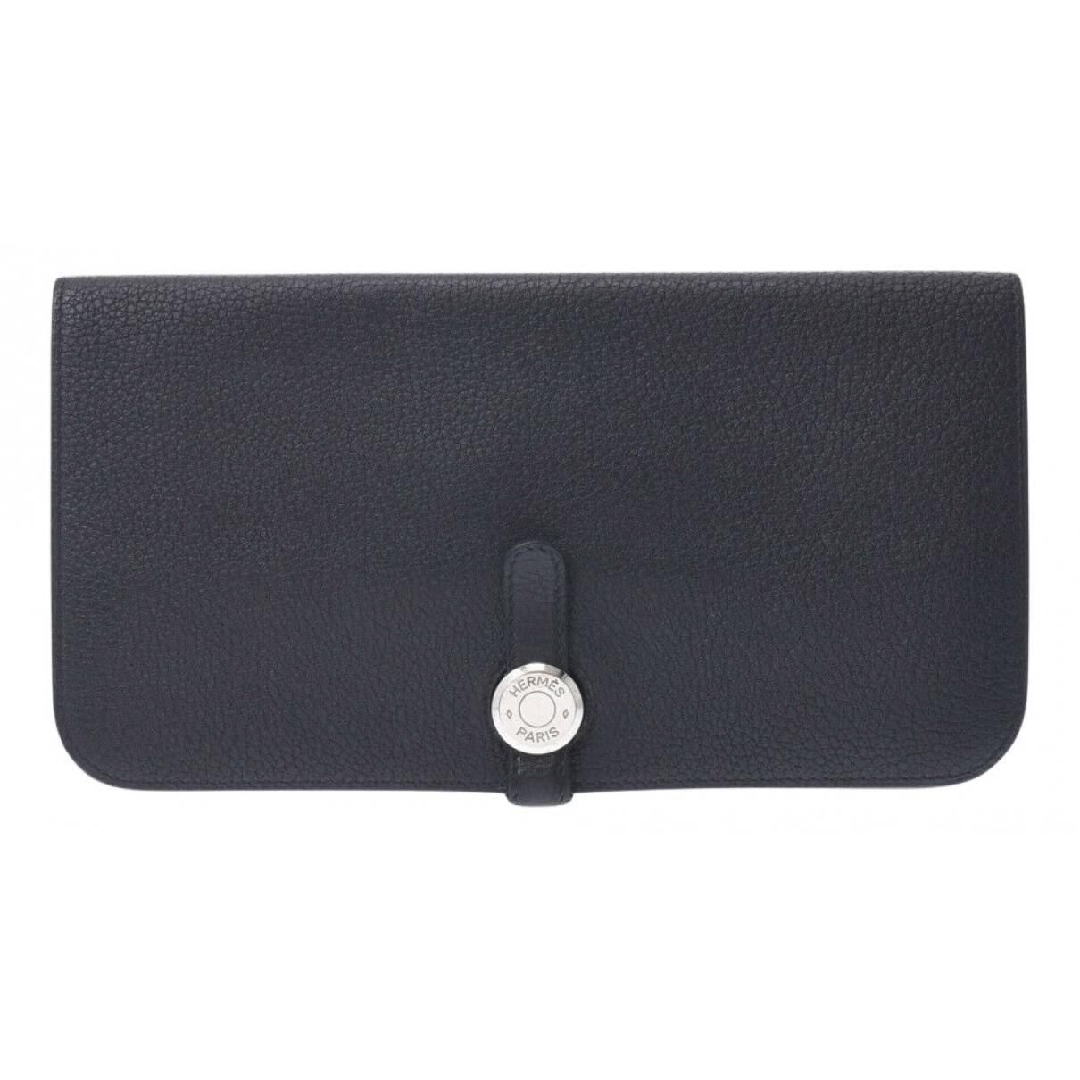 Hermès Dogon Black Leather wallet for Women N