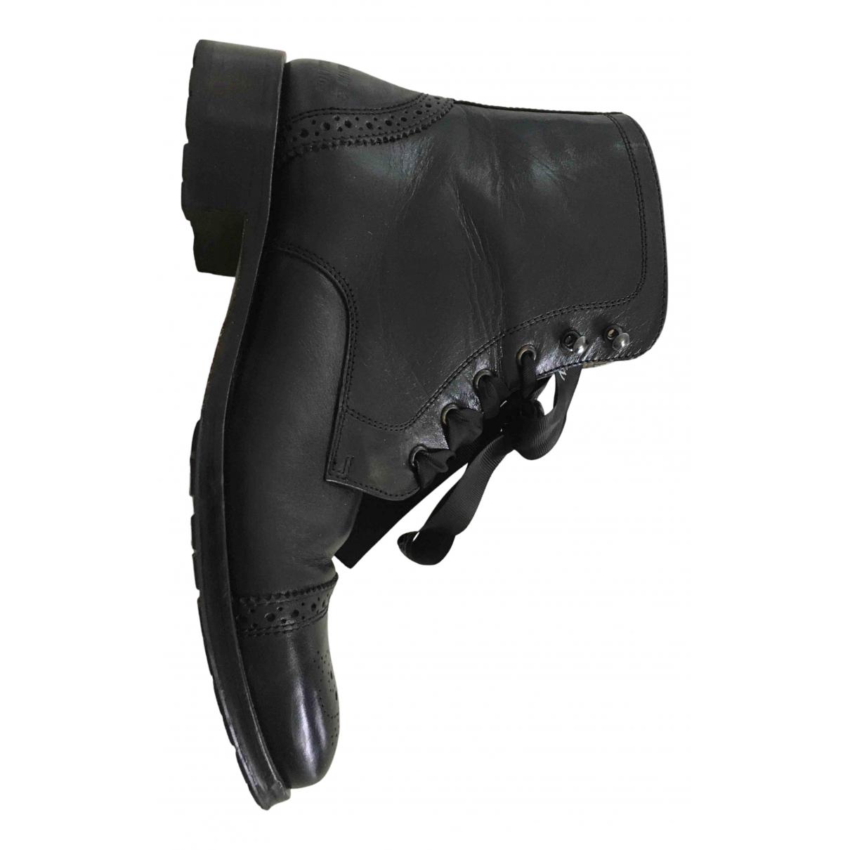 Melvin&hamilton - Boots   pour femme en cuir - noir