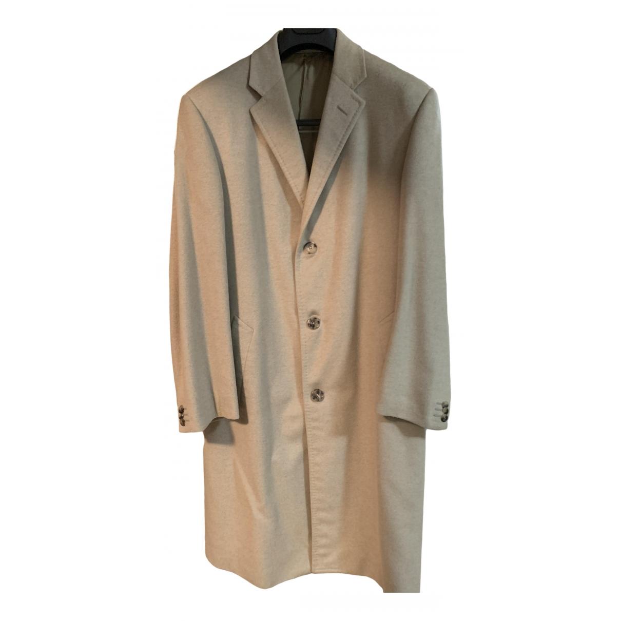 Corneliani - Manteau   pour homme en cachemire - ecru