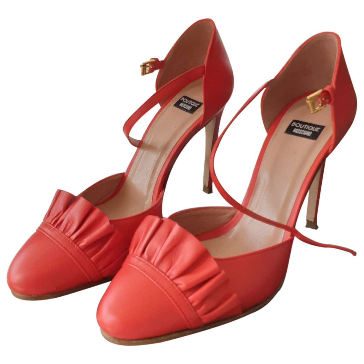 Moschino \N Pumps in  Rot Leder