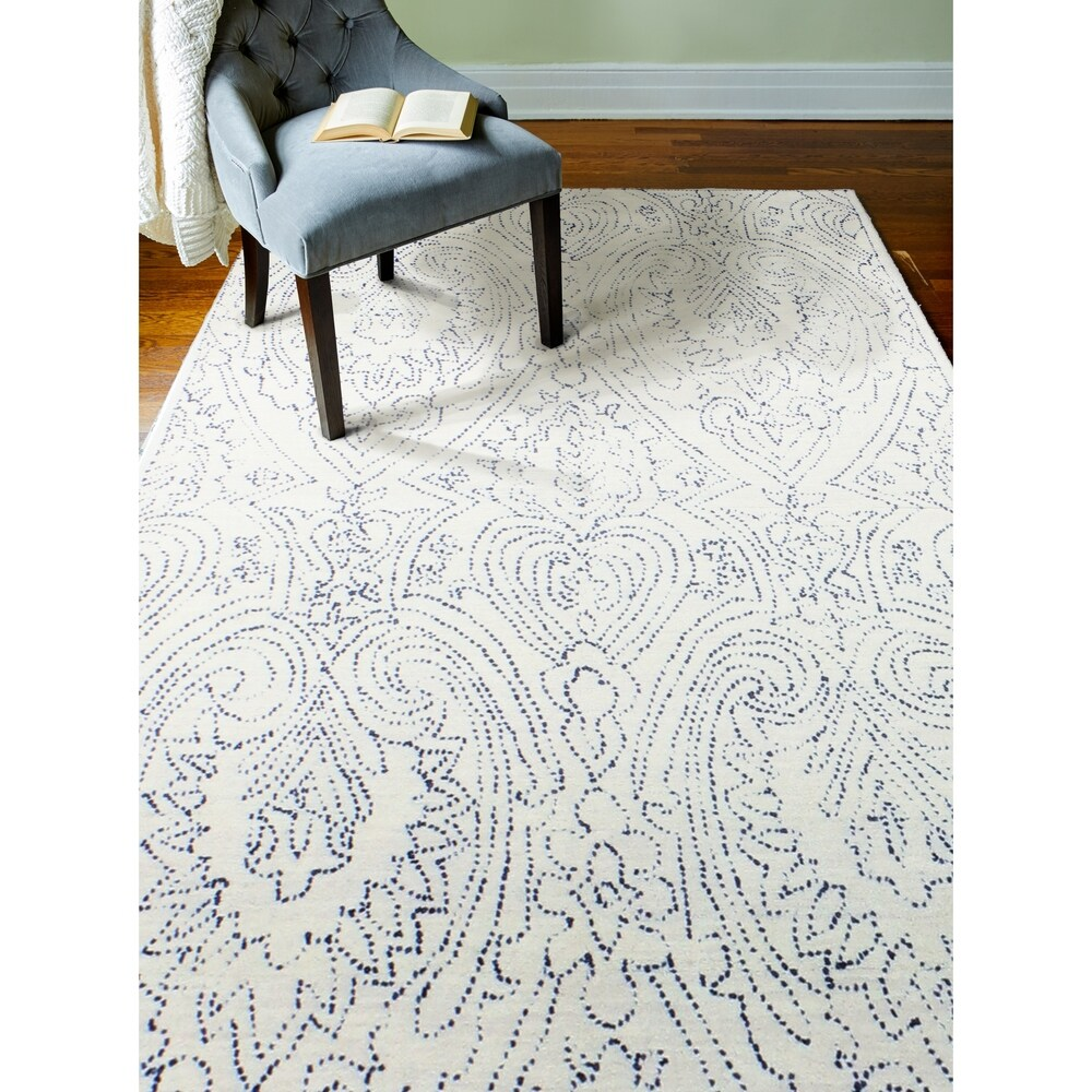 Sherwood Transitional Hand Tufted Area Rug (Navy 3'6