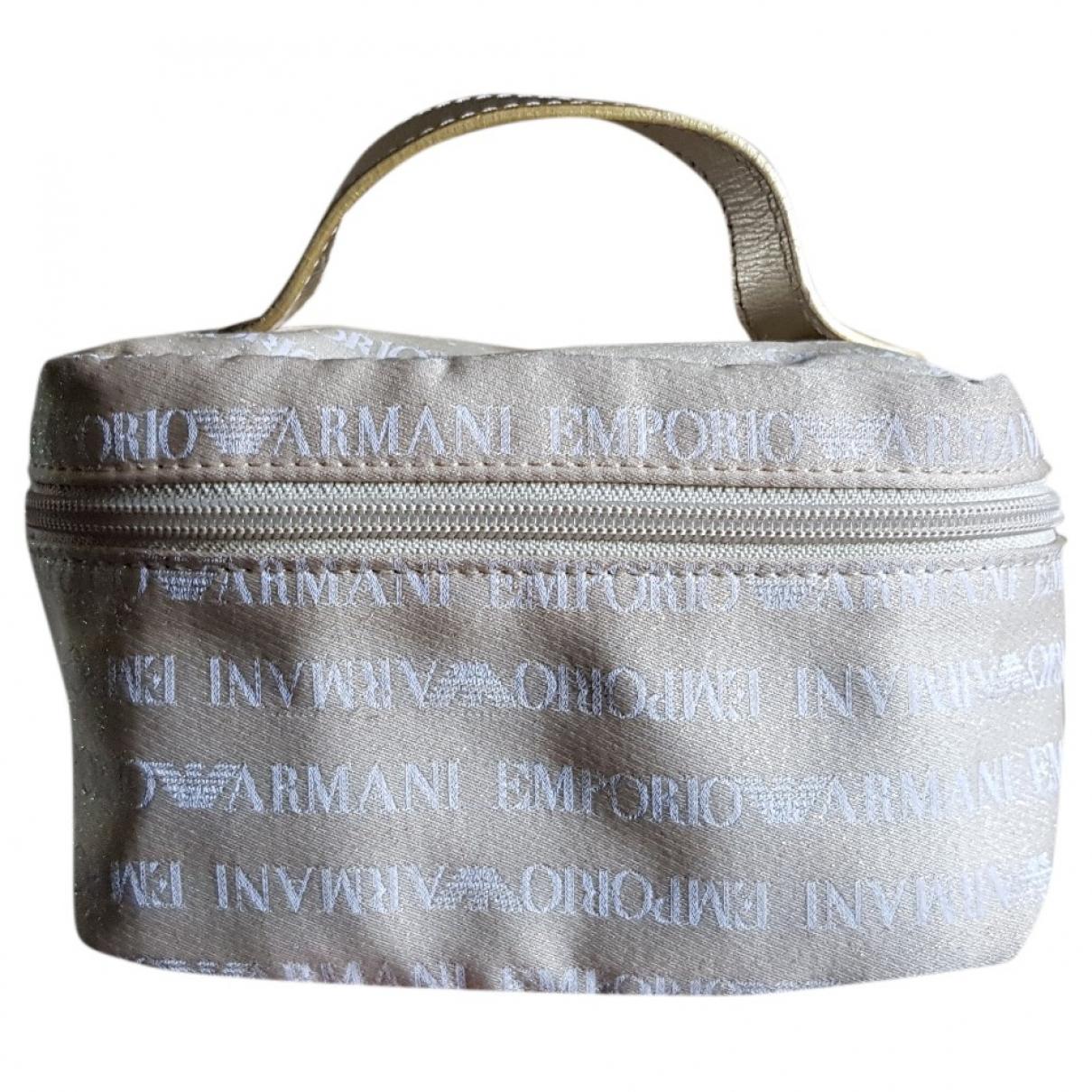 Emporio Armani \N Gold Cloth Travel bag for Women \N