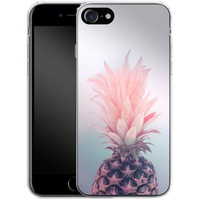 Apple iPhone 7 Silikon Handyhuelle - Pastel Pineapple von Emanuela Carratoni