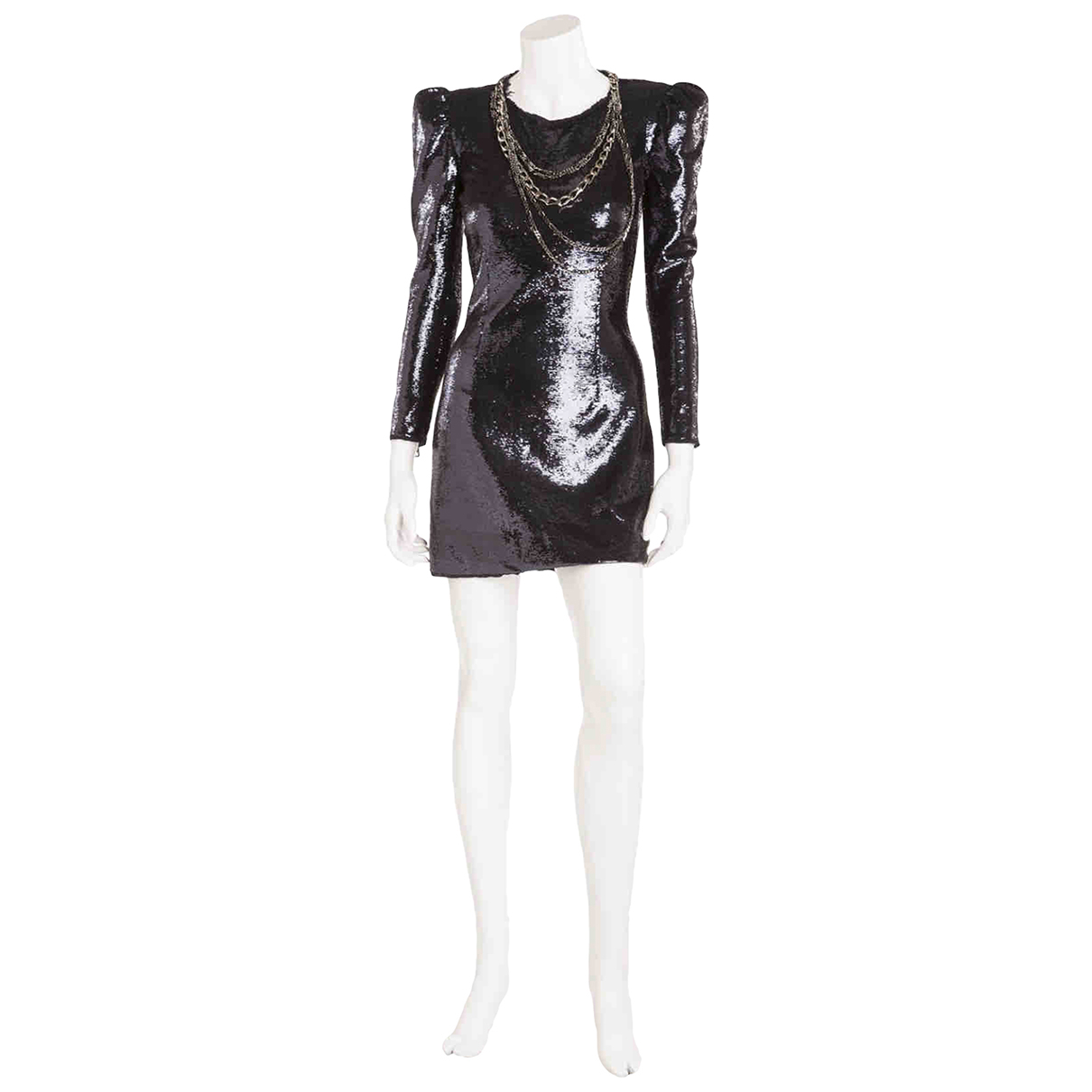 Balmain N Navy Glitter dress for Women 38 FR