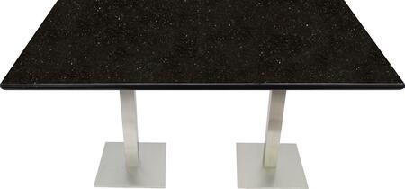 G206 30X48-SS05-17H 30x48 Black Galaxy Granite Tabletop with 17