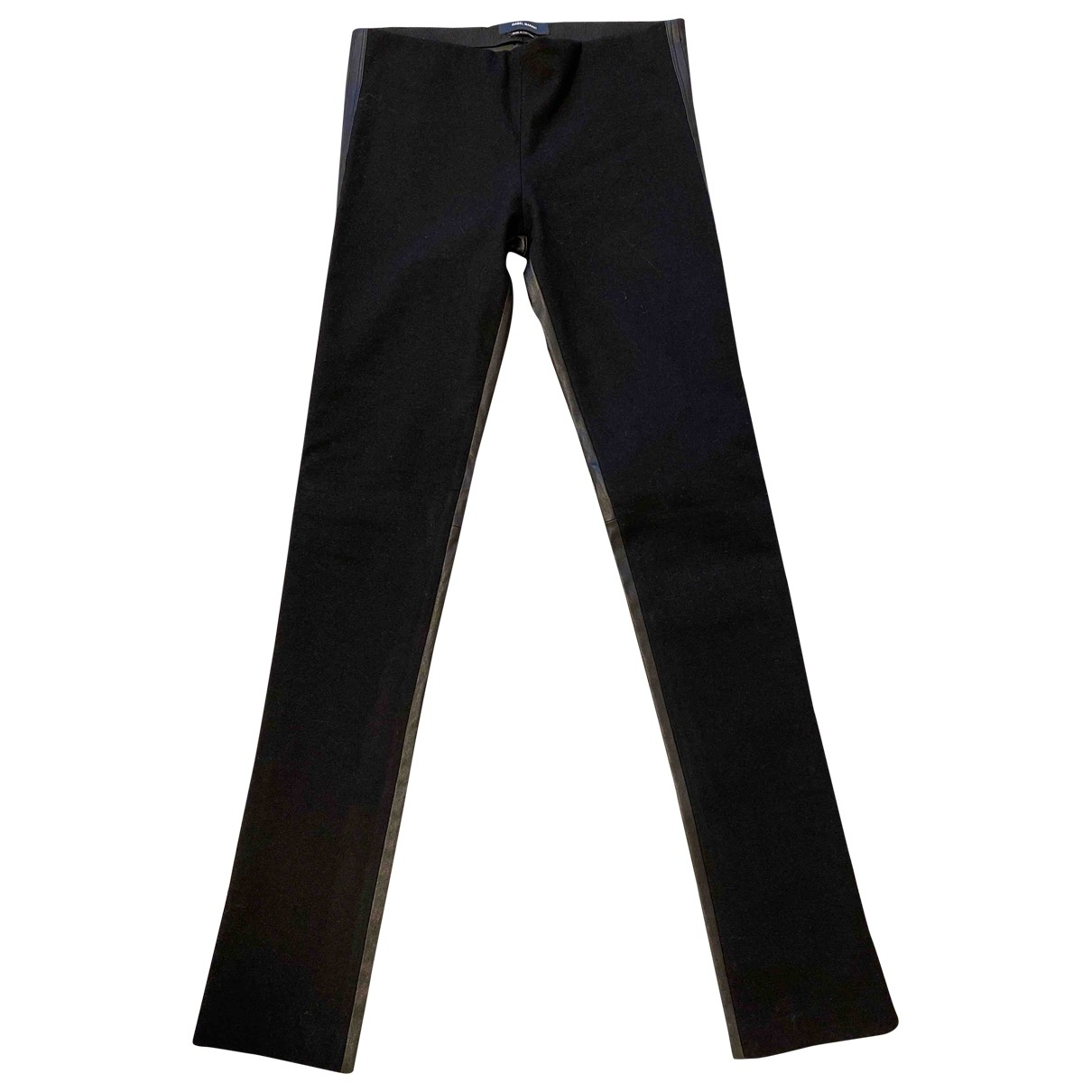 Isabel Marant \N Black Leather Trousers for Women 38 FR