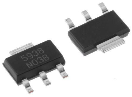 Texas Instruments LM1117IMP-ADJ/NOPB, LDO Regulator, 1.5A Adjustable, 1.25 → 13.8 V, ±1% 3+Tab-Pin, SOT-223 (5)