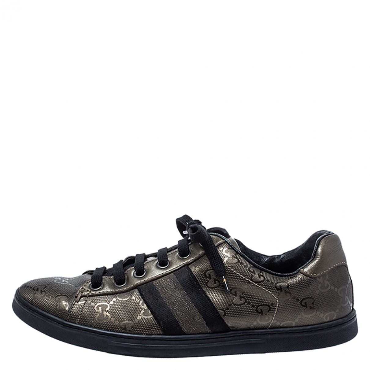 Gucci \N Metallic Leather Trainers for Women 5 US