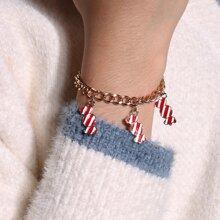 Christmas Candy Chain Bracelet