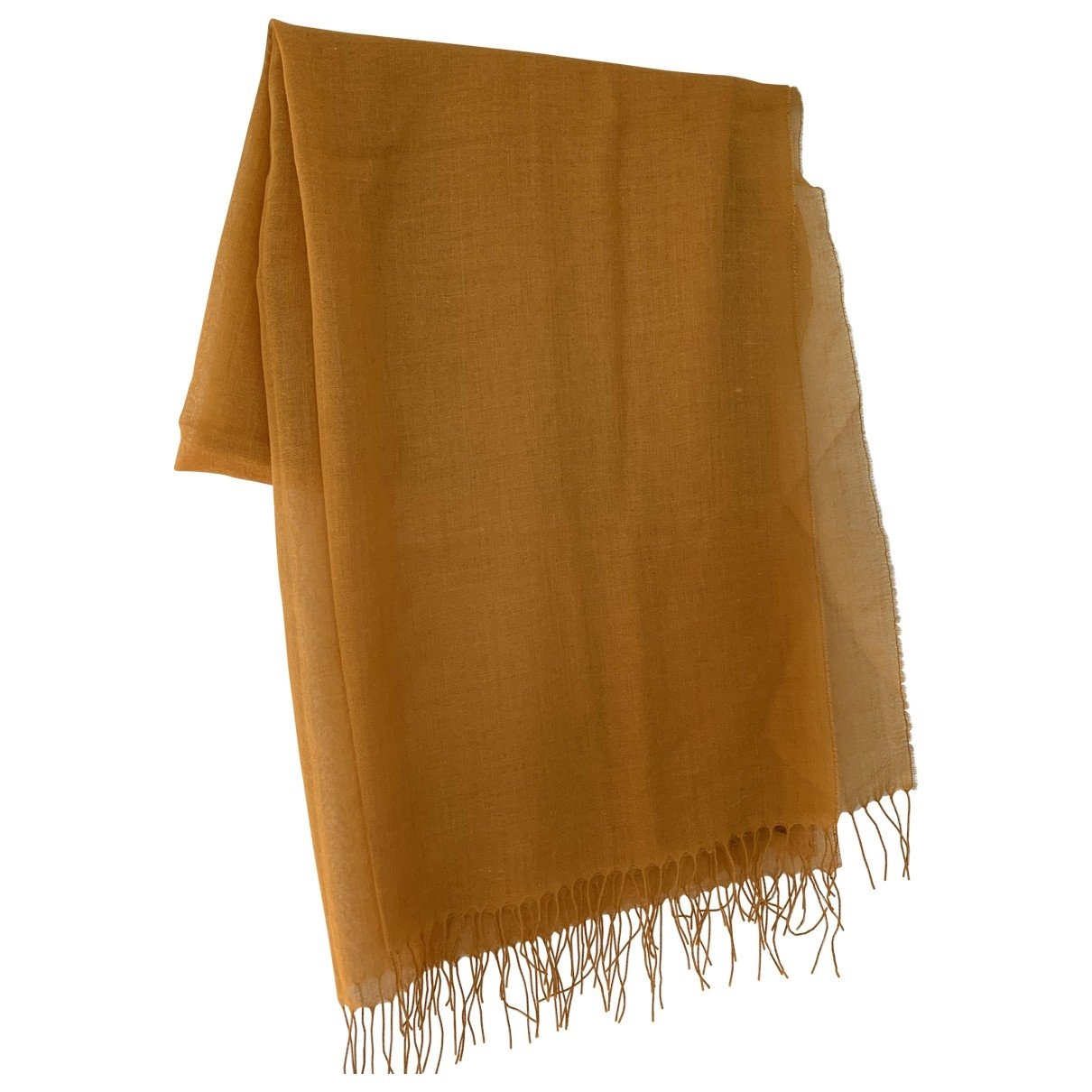 Henry Cotton \N Yellow Wool scarf for Women \N
