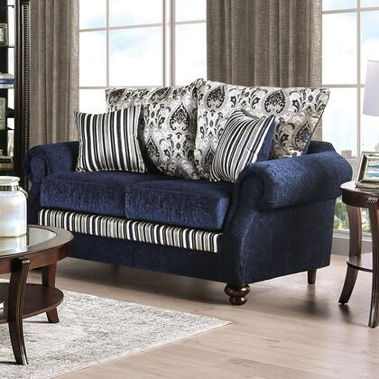 SM4434-LV Kenna Transitional Love Seat  in Navy