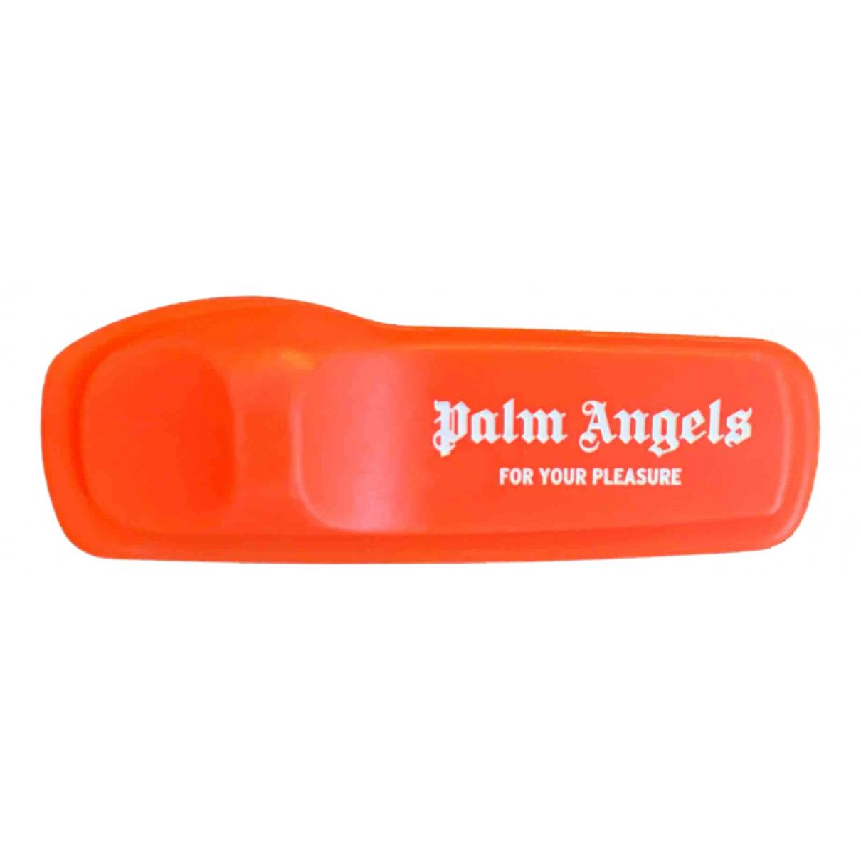 Broche en Plastico Naranja Palm Angels