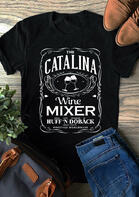 Catalina Wine Mixer T-Shirt Tee - Black