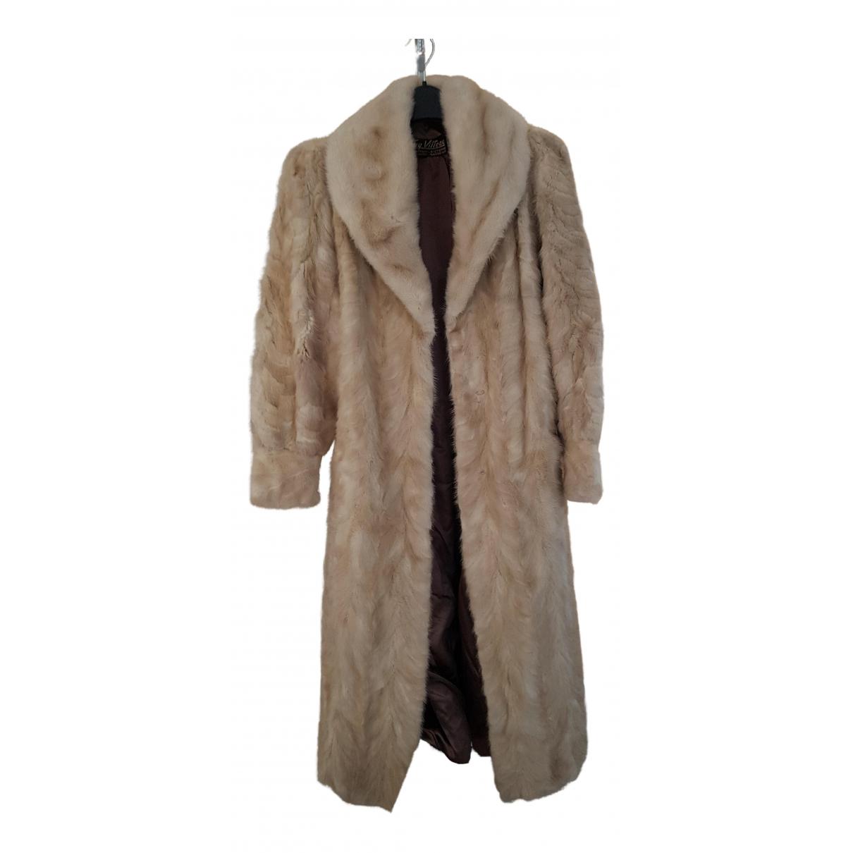 - Manteau   pour femme en vison - blanc