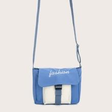 Two Tone Flap Crossbody Bag