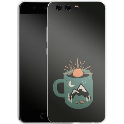 Huawei P10 Silikon Handyhuelle - Mountain Morning Wakeup von ND Tank