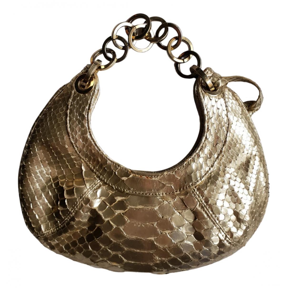 Stuart Weitzman N Gold Leather Clutch bag for Women N