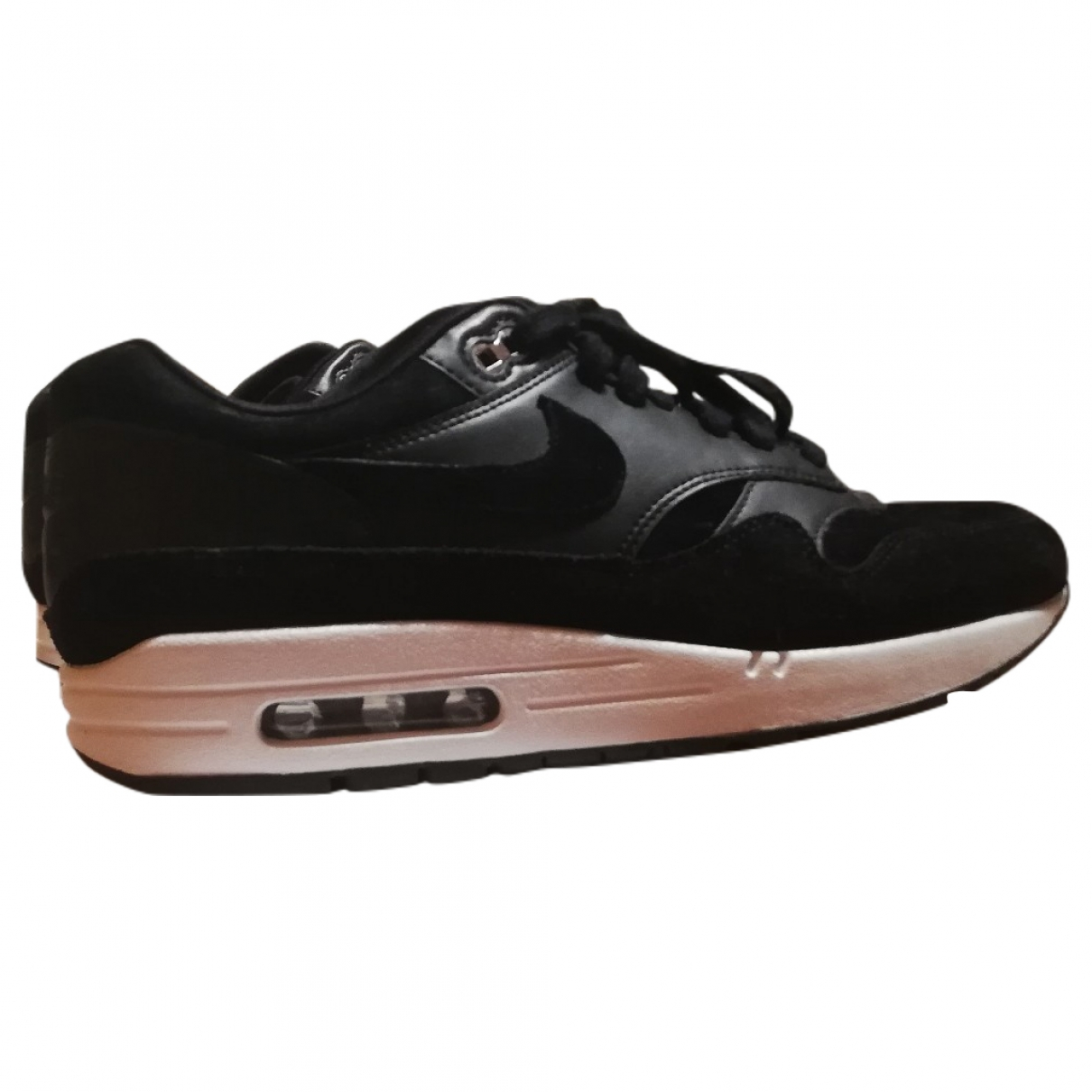 Nike Air Max 1 Black Leather Trainers for Men 42.5 EU
