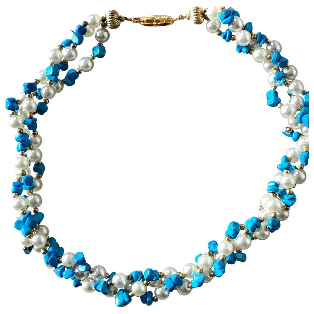 Non Signe / Unsigned \N Kette in  Blau Perlen