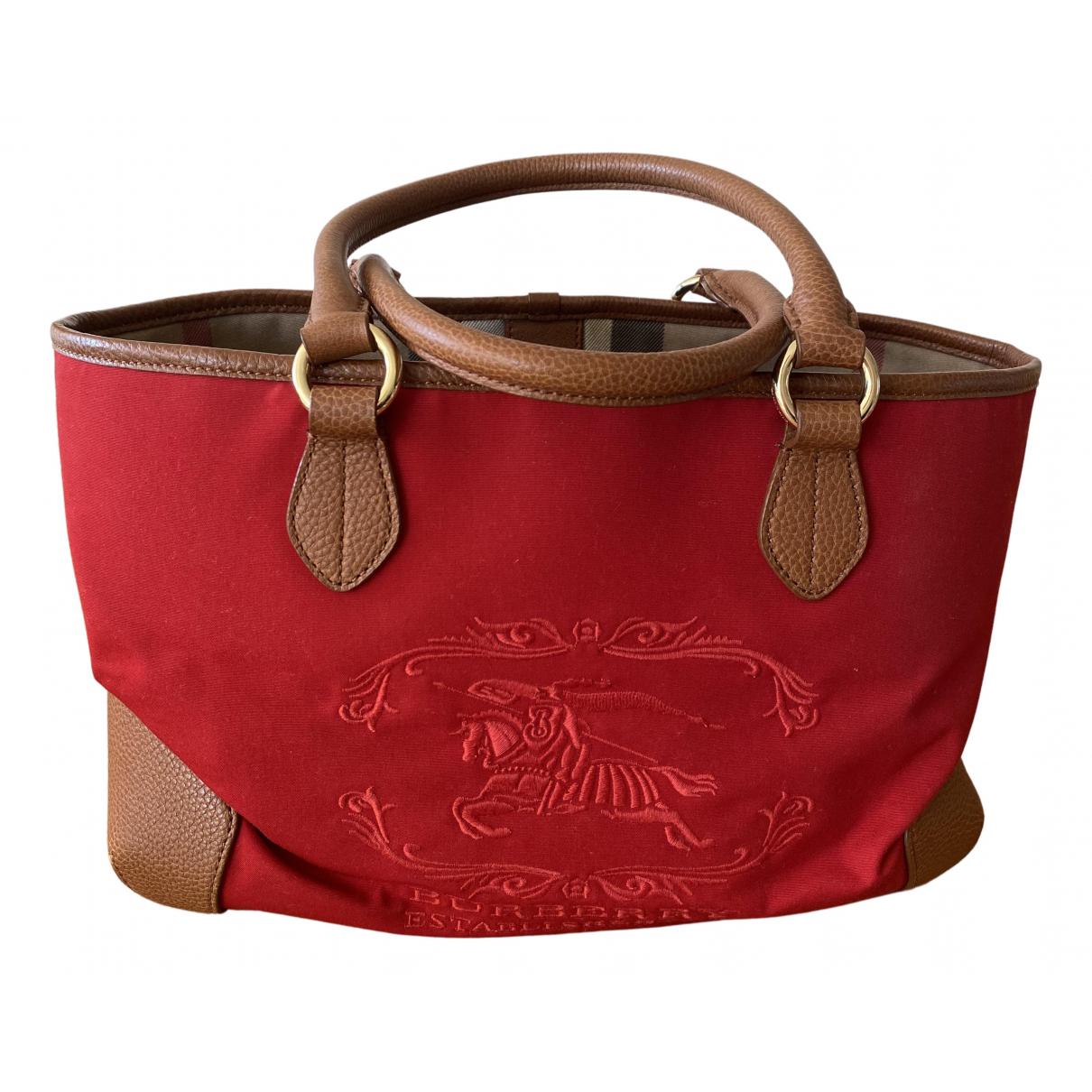 Burberry \N Red Cotton handbag for Women \N