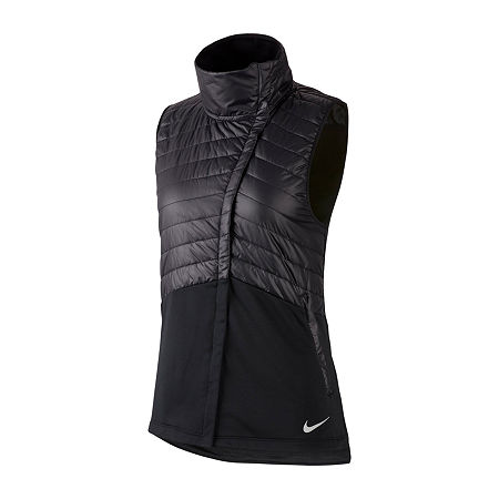 Nike Knit Midweight Puffer Jacket, Medium , Black