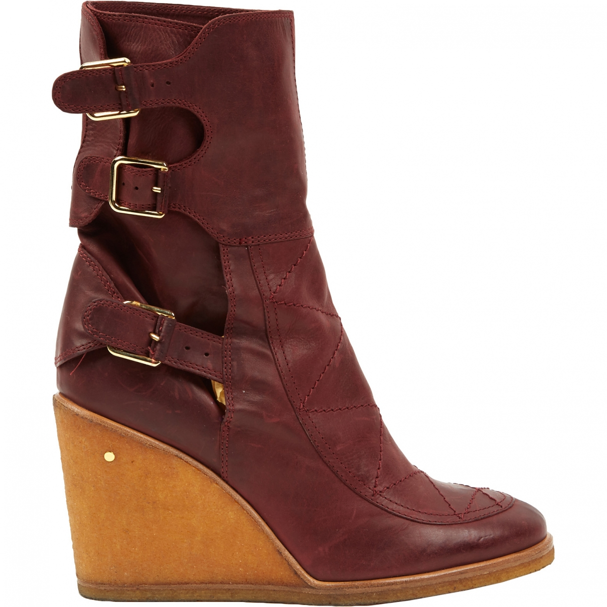 Laurence Dacade \N Burgundy Leather Ankle boots for Women 40 EU