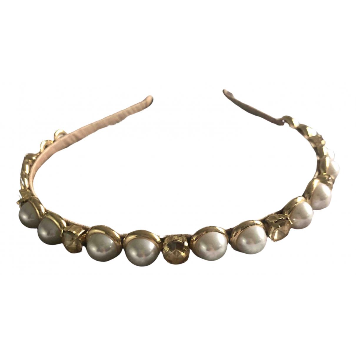 - Bijoux de tete   pour femme en metal - dore