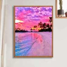 DIY Diamand Malerei mit Strand Muster ohne Rahmen