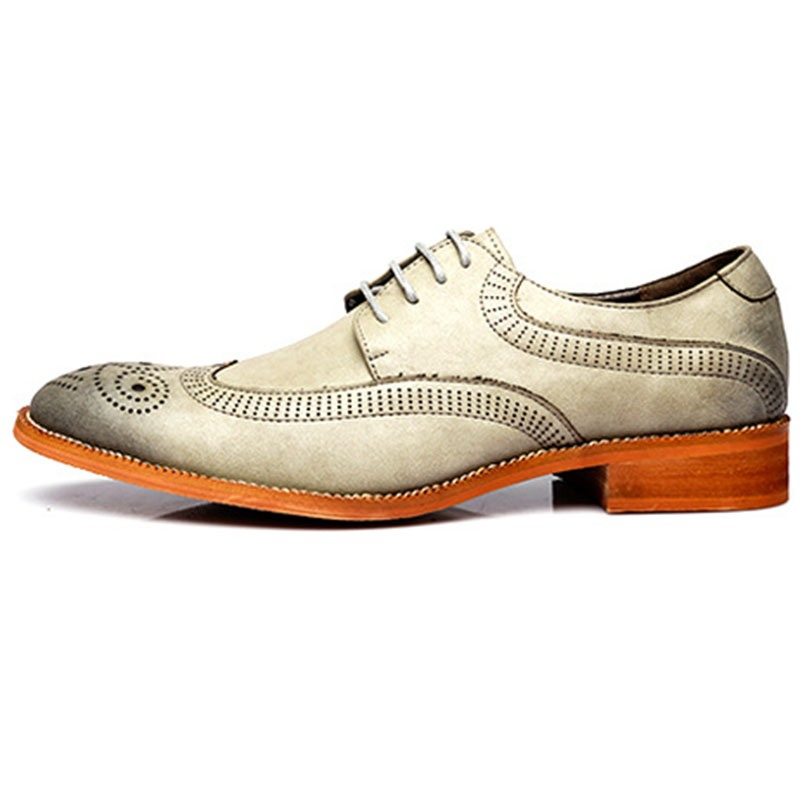 Ericdress Plain Lace-Up Block Heel Men's Oxfords