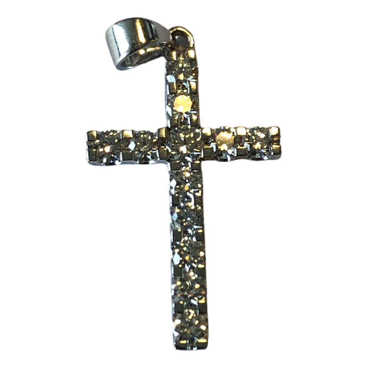 Colgante Croix de Oro blanco Non Signe / Unsigned