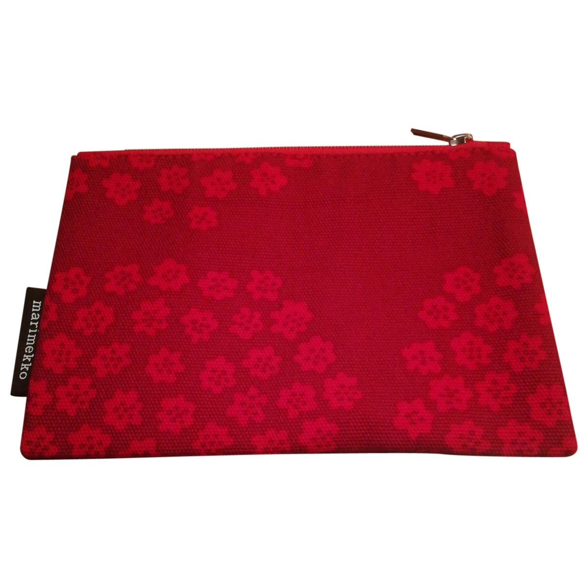 Marimekko - Pochette   pour femme en coton - rouge