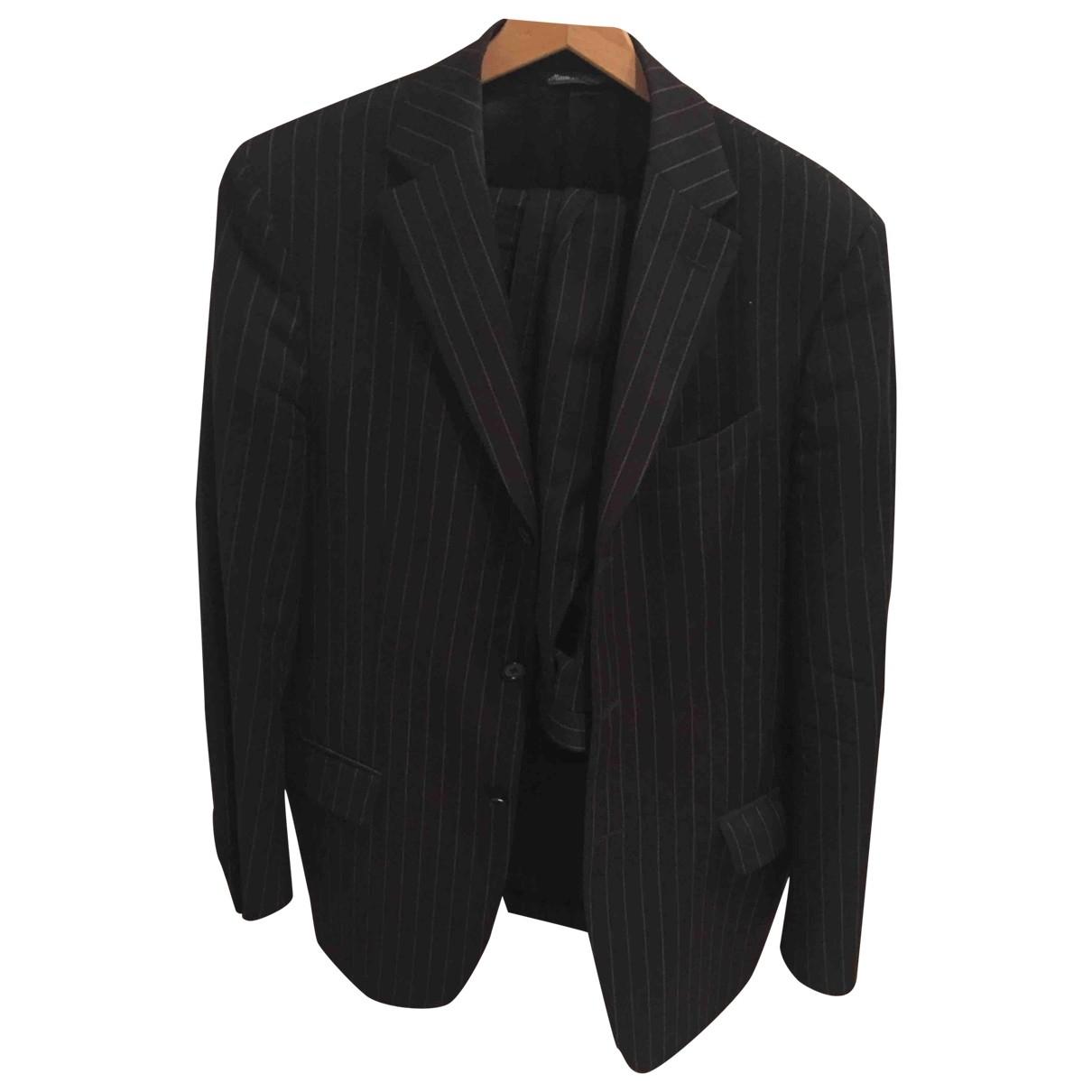Francesco Smalto - Costumes   pour homme en coton - noir