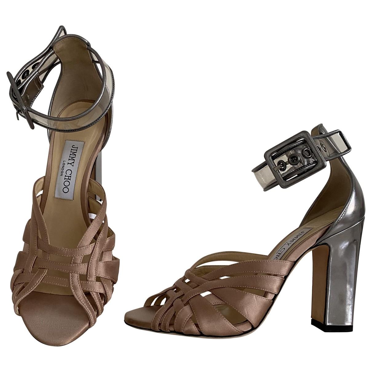 Jimmy Choo - Sandales   pour femme en toile - marron