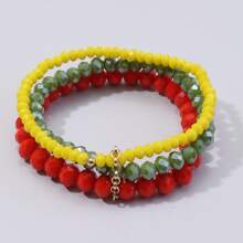 3pcs Simple Beaded Bracelet