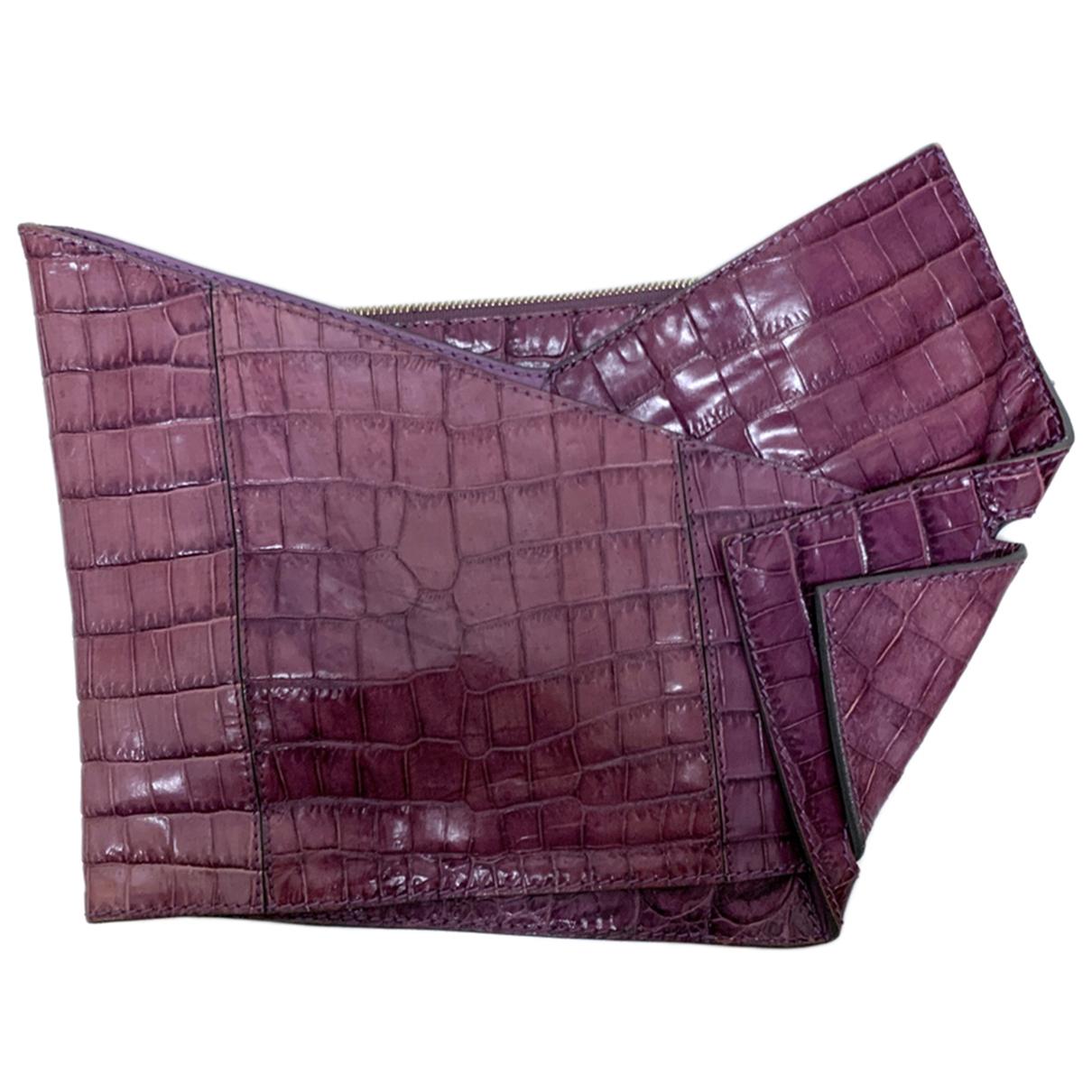Chloe - Pochette   pour femme en cuir - violet
