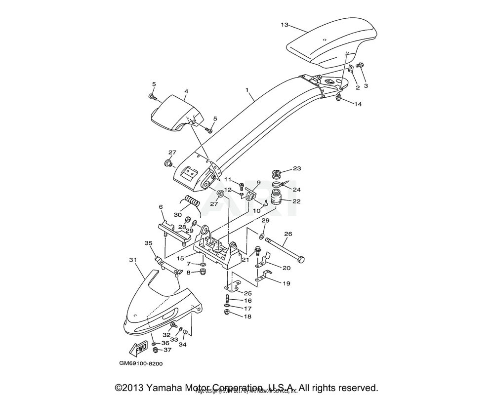 Yamaha OEM GM6-6133B-00-00 PLATE, BRACKET
