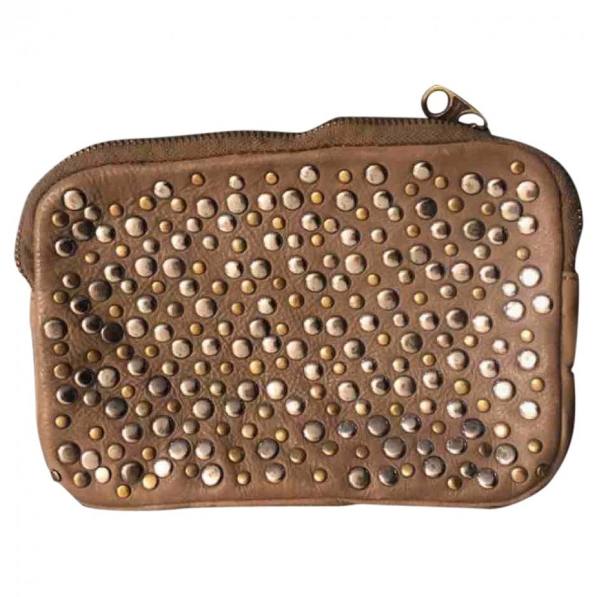 Zadig & Voltaire \N Beige Leather Clutch bag for Women \N