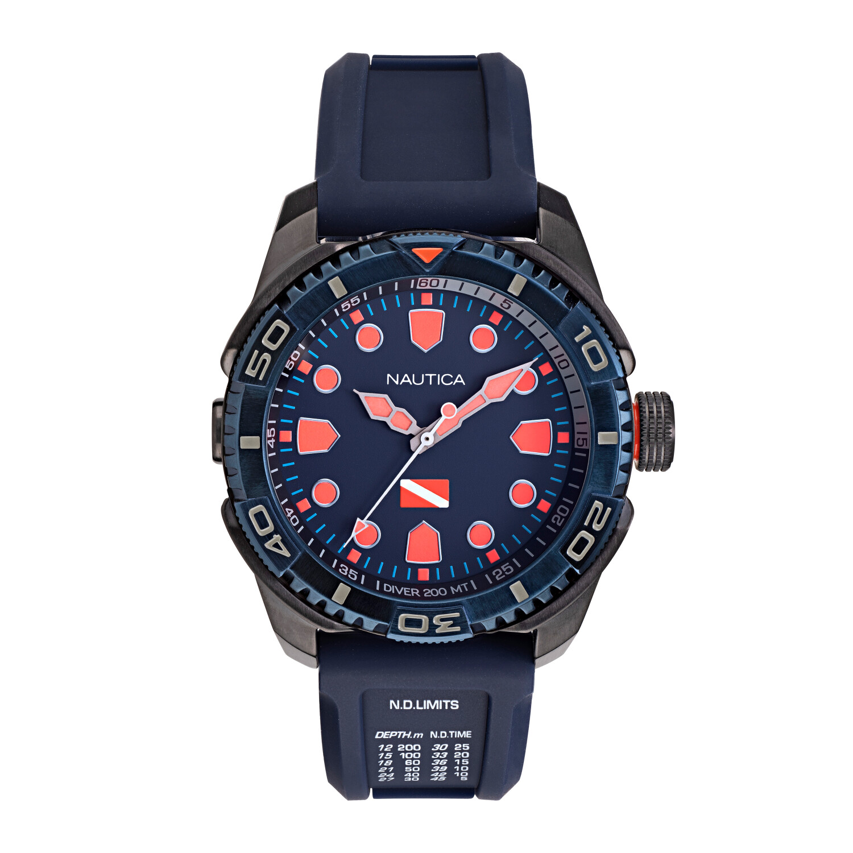 Nautica Men's Tarpoon Dive NAPTDS904 Blue Silicone Quartz Fashion Watch