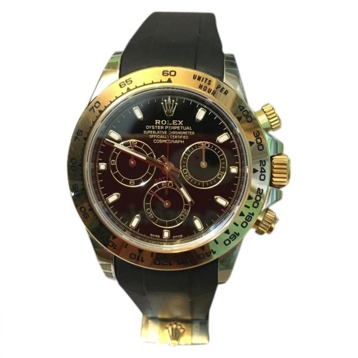 Rolex Daytona Uhr in  Schwarz Gold und Stahl