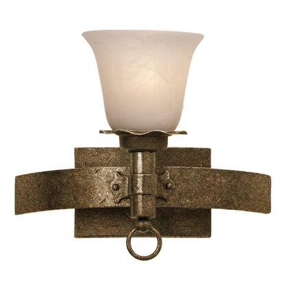 Americana 4201AC/1265 1-Light Bath in Antique Copper with Large Piastra Standard Glass
