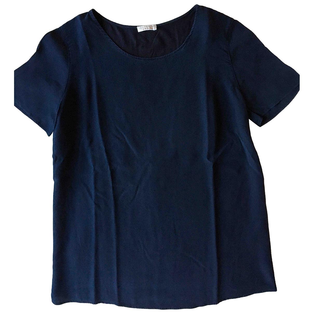 Falconeri - Top   pour femme en soie - bleu