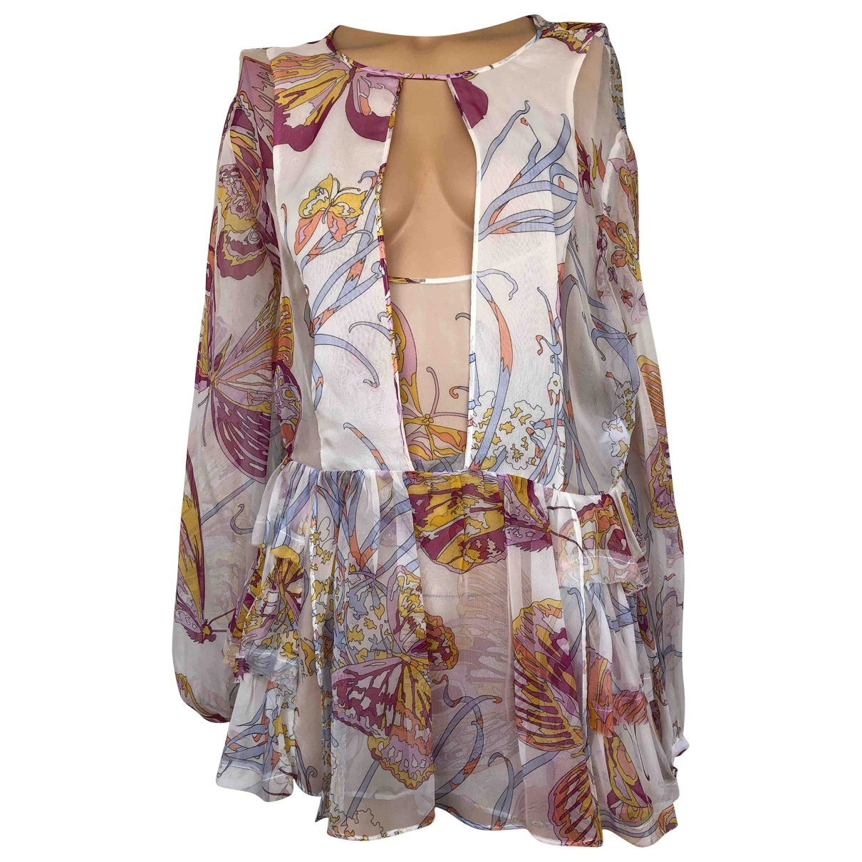 Emilio Pucci \N Multicolour Silk  top for Women 38 IT