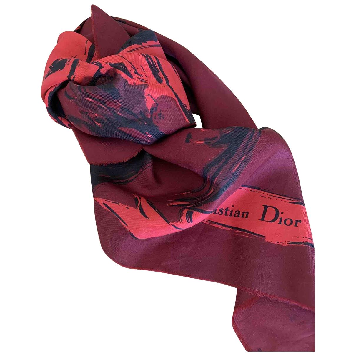 Dior - Foulard   pour femme en soie - rouge