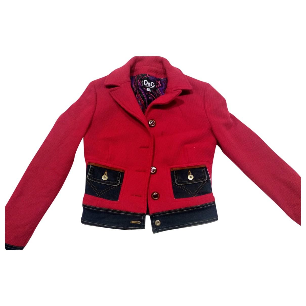 D&g - Veste   pour femme en coton - rouge